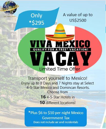 Mexico Resort Flyer